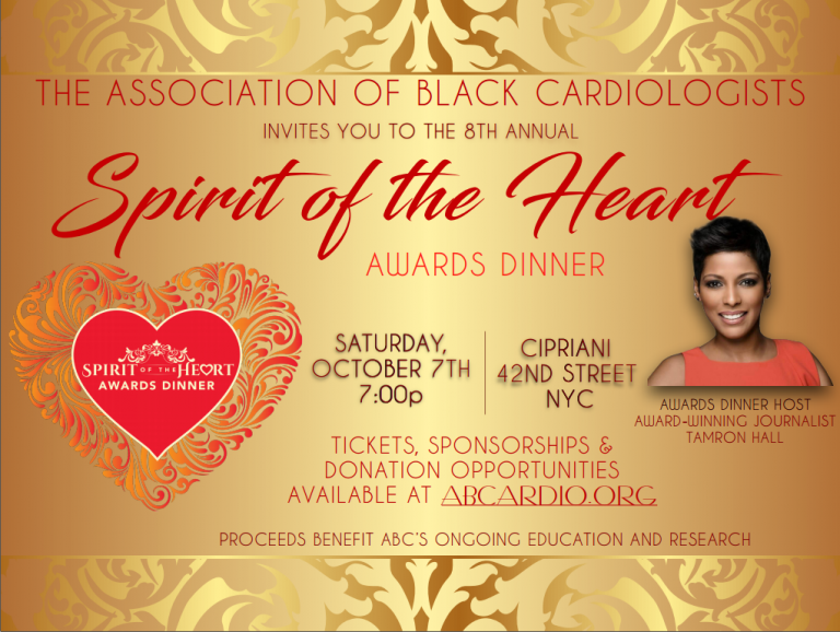 ABC invites you to the 8th Annual Spirit of the Heart Awards Dinner, Saturday, October 7th at 7 PM at Cipriani, 42nd Street, NYC. Proceeds benefit ABC's ongoing education and research.