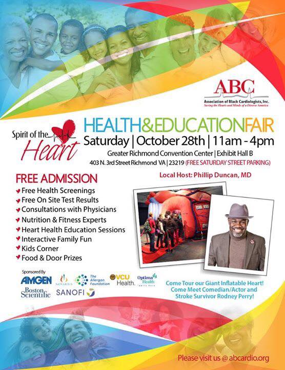 Spirit of the Heart Health and Education Fair in Richmond, VA