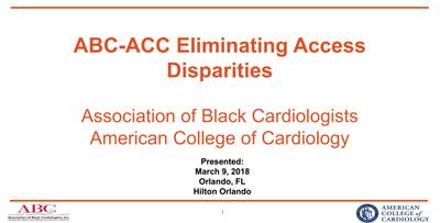 ABC-ACC Eliminating Access Disparities Survey Summary