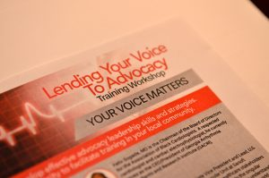 Lending Your Voice to Advocacy
