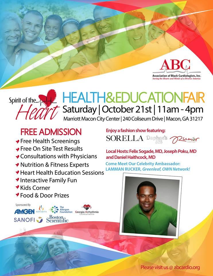 Spirit of the Heart Health and Education Fair Macon GA