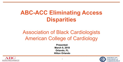 ABC-ACC Eliminating Access Disparities Survey Summary